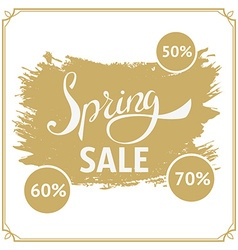 Big spring sale 70 off big sale design template vector