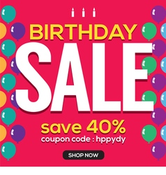 Happy birthday sale banner vector