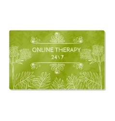 Business card or showcase online help therapy vector