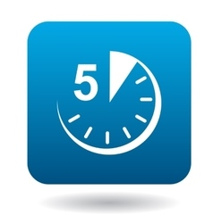Five minutes icon flat style vector