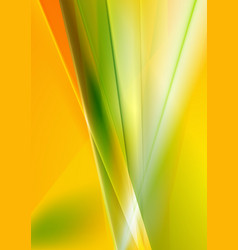 Abstract green and orange stripes background vector