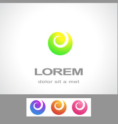 Abstract logo design template fashion spa vector