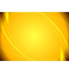 Abstract yellow wavy pattern vector