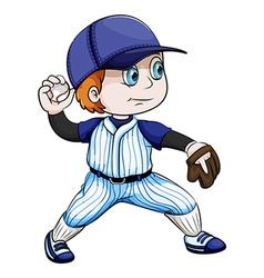 An asian baseball player vector