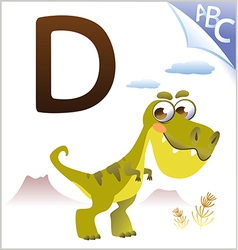 Animal alphabet for the kids D for the Dinosaur vector image vector image