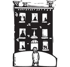 Apartment windows vector