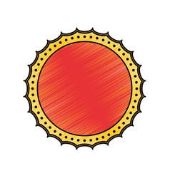 blank label stamp vector image