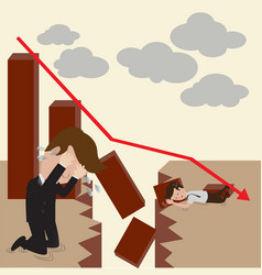 businessman and investment fail vector image vector image