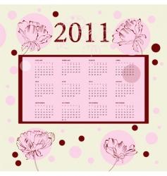 calendar for 2011 vector image vector image
