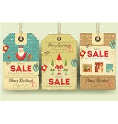 Christmas Sale Tags vector image vector image