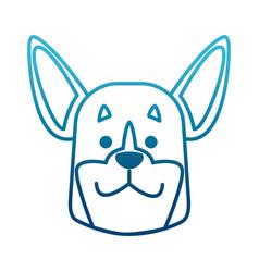 Dog head cartoon vector