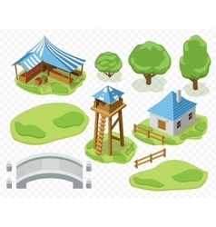elements of settlement vector image vector image