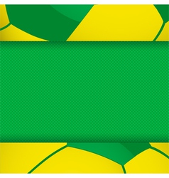 Football brazil panel background vector