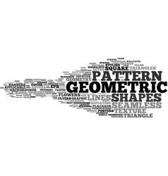 Geometric word cloud concept vector