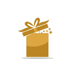 Gift box ribbon template blank vector