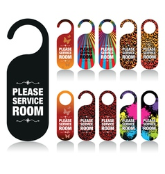 Hotel door signs vector