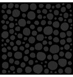 Irregular hatched circles collection white blac vector