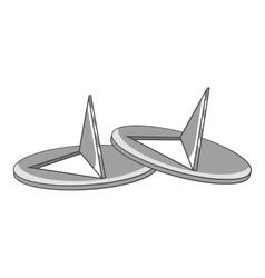 Pushpins icon gray monochrome style vector