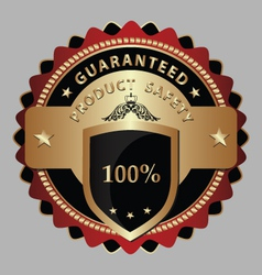Safe product guarantee label vector image