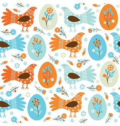 seamles Easter background vector image vector image