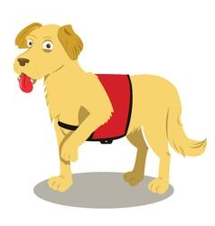 Service dog cartoon vector