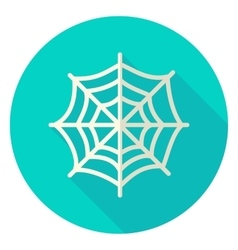Spider web circle icon vector