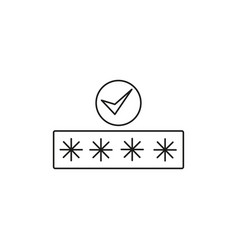 succeful password icon vector image