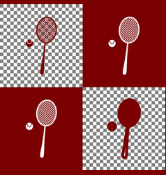 Tennis racquet with ball sign bordo and vector