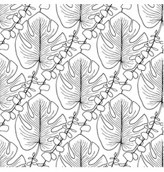 Tropical leaves pattern seamless pattern for vector