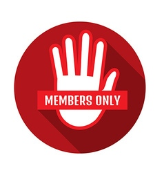 VIP Club members only banner vector image