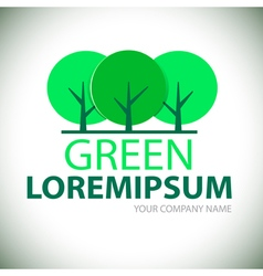 Logo green tree vector