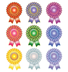 Rosettes vector image