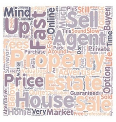 Sell my house fast text background wordcloud vector
