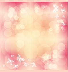 pink background with butterfly vector image