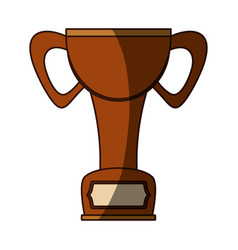 Isolated cute trophy vector