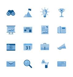 Business icon set flat design vector