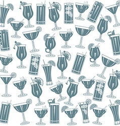Cocktails seamless pattern vector