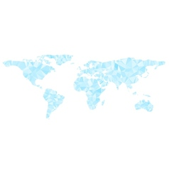 Digital blue world map is shining diamond vector