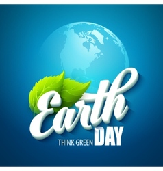 Earth day with the words vector