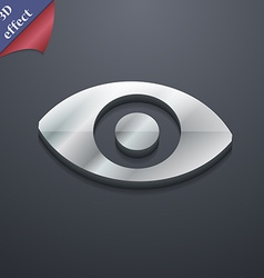 Sixth sense the eye icon symbol 3d style trendy vector