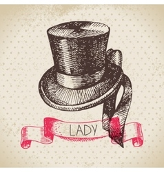 Hand drawn elegant vintage ladies background vector image