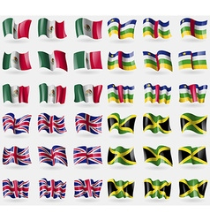 Mexico central african republic united kingdom vector