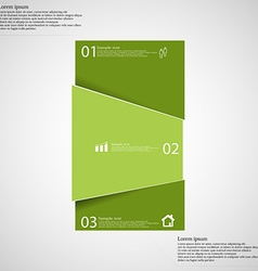 Infographic template with bar randomly divided to vector