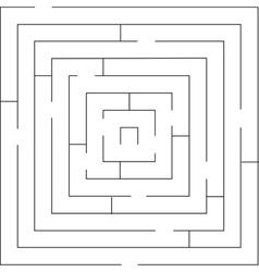 Maze 01 black vector image