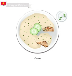Oromo or kyrgyzstan traditional steamed pie vector