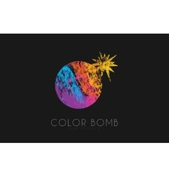 Bomb logo color bomb logo creative logo vector