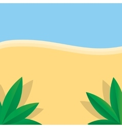 Summer beach and palm vector