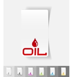 Realistic design element oil vector