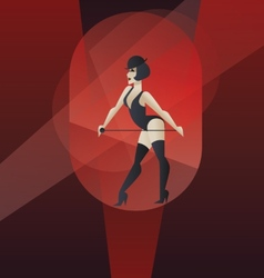 Art deco poster design cabaret burlesque dancer vector