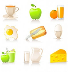 breakfast collection vector image vector image